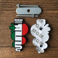 2 Black Snake Italian Flag Grille Badge Trunk Sticker Emblems Set fit Alfa Romeo (Fits: Alfa Romeo)