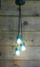 FIXTURE CHANDELIER TRAIN LIGHT Vintage Glass Insulator Ceiling Light U CHOOSE