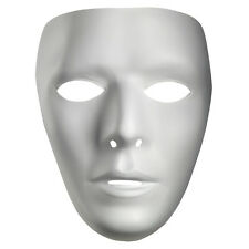 Blank Male White Costume Face Mask | Disguise 10475