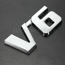 V6 3D Chrome Car Badge Sticker Decal Emblem Trunk Side Logo ABS Auto Adhesive