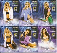 2015 Benchwarmer Comic Con Limited Edition Promo 5 Card Set + Unsigned Auto #4