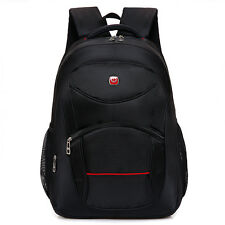 Men Backpacks Large Capacity Bookpack Laptop Back Pack Nylon Black School Bags