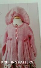 (600) Baby Cardigan COPY Knitting Pattern and Beret, Lovely Design in DK yarn