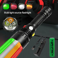 Tactics White/Red/Green/Amber LED Flashlight Coyote Hog Hunting Light Camping