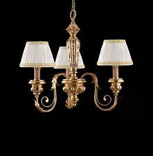 Lampadario classico in legno e ferro battuto foglia oro 3 luci pre Ls 144/3P