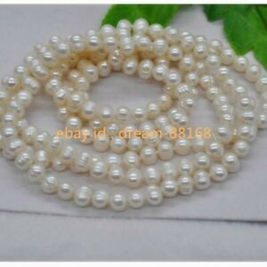 """Natural Japan Pearl 48"""" long Round 8-9mm White Freshwater Pearl Necklace"""