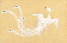 White Phoenix by Yamada Naosaburo 1909 75cm x 49.2cm Canvas Print