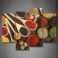 Framed Colorful Spice Food Canvas Print Wall Art Painting Condiment Picture