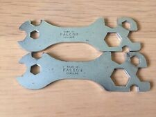 Vintage 1970's FALCON Racing Bike Multi Spanner Tool - Made in England x 2