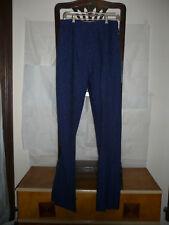 1940s/50s high-waist drop-belt loop wool/gabardine Hollywood pants