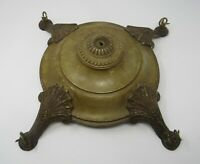 Antique Flush Mount Light Ceiling Fixture Art Deco Metal 4 Light