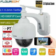 Outdoor Wireless WiFi CCTV IP Camera HD 1080P 5X Optical Zoom PTZ Dome ONVIF CAM