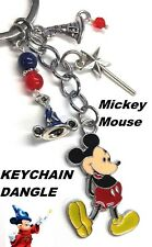 Disney Mickey Mouse The Sorcerer's Hat Charm Metal Pendant KEYCHAIN Keyring NEW