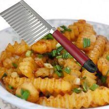 Crinkle cut knife potato chip chipper légumes cutter avec ondulés lame trancheuse uk
