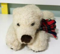 Russ Berrie Glacier Polar Bear Plush Children's Animal Toy 28cm Long!