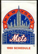 Schedule Baseball New York Mets - 1993 - NEC Shea Stadium