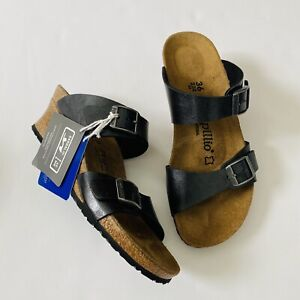 Birkenstock Papillio Dorothy Graceful Licorice Black Wedge size 36 New