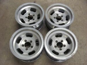 "Set of 4 Ford MOPAR AMC 14X7 Slotted Mags Aluminum 5X4.5"" Enkei APPLIANCE"