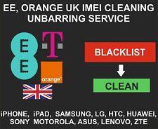 EE, Orange, T-Mobile UK Unbarring, Cleaning Service, iPhone, Samsung, LG, ZTE