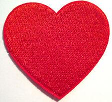 Rotes Herz Aufnäher / Aufbügler heart patch Bügelbild Kinder Poker Applikation