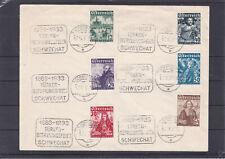 Ö 1933 Katholikentag Satz auf Kuvert mit Türkenbefreiungs Sonderstempel