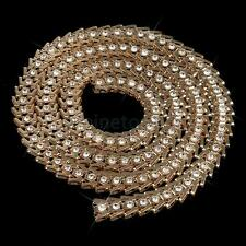 1Yard Gold Rhinestone Crystal Beaded Sewing Trims Applique Costume Chain