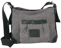 Harold's Canvas Women's Leather Handbag Shoulder Bag Bag Shoulder Bag Grey