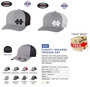 Awareness Autism Puzzle Piece  Trucker Cap FLEXFIT HAT