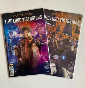 Doctor Who Time Lord Victorious #1 & 2 Complete Set Titan Comics Lot