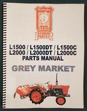Kubota L15001500dt C L20002000dt C Parts Manual Japanese English