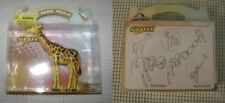 GIRAFFE figure toy 3D PUZZLE 3 x 3 x 1 inches NEW vintage wild zoo animal