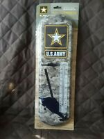 U.S.Army Indoor Outdoor Metal Thermometer  Helicopers  Camo Weather Resistant