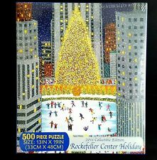 Rockefeller Center Jigsaw Puzzle Christmas Tree Ice Skating Rink 500 pc 2011 NEW
