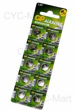 GP LR44 AG13 A76 Batteries 10 pcs Original Packing FREE POST Worldwide