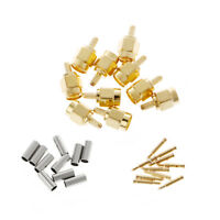 10Pcs SMA Male Plug Straight Crimp RG174 RG316 LMR100 Cable RF Connector