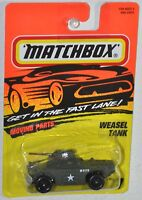 Matchbox 1995 Fast Lane #77 Weasel Tank green Moving Parts MOC VHTF Tyco toys