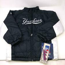 Yankees Majestic Navy Blue Satin Bomber Jacket NWT Kids Youth Size Medium