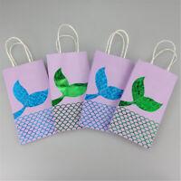 20 Packs Gift Paper Supplies Goodie Bags Mermaid Party Bags Glitter Treat