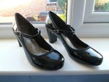 MARKS & SPENCER NEW SIZE 6.5 LADIES BLACK PATENT SHOES