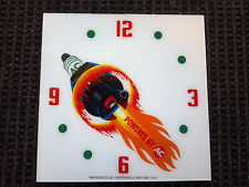 """*NEW* 15"""" AC SPARTKPLUG HOT ROD CHEVY GM SQUARE GLASS clock FACE FOR PAM"""