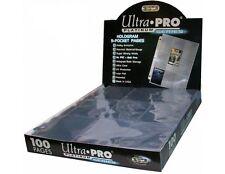 ULTRA PRO 9 CARD SLEEVES POCKET PAGE PROTECTORS LOT OF 100 BASEBALL CARD ALBUM