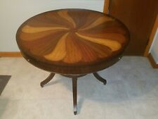 Thomasville Ernest Hemingway Inlaid Pinwheel Gaming / Dining Table, Pickup Only