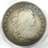 1800 Draped Bust Silver Dollar $1 Coin ( BB-193, B-13) - ANACS VG8 Details