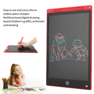 12in LCD Writing Drawing Tablet Pad Memo Notepad Board for Children Notepad L2S