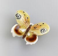 Porzellan Figur Schmetterling braun gelb Ens 6x7x2,5cm 9941421