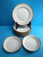 Fitz & Floyd Classique d'Or Bundle of Bread Plates & sauce bowls 11 Piece Lot
