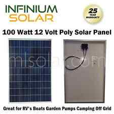 Solar Panel Off Grid 100W Watts 100 Watt 12 Volt 12V RV Boat PV Charger Portable