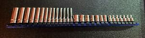 """New Snap-On Tools 28pc 6 Point 1/4"""" Drive Metric Socket Set 🇺🇸"""