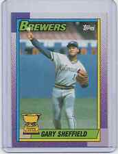 (2) 1990 Topps #718 - GARY SHEFFIELD - Lot of 2 cards