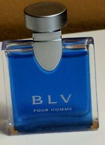 BLV Pour Homme by Bvlgari Men 0.17 oz Eau de Toilette Splash Mini Collectors New
